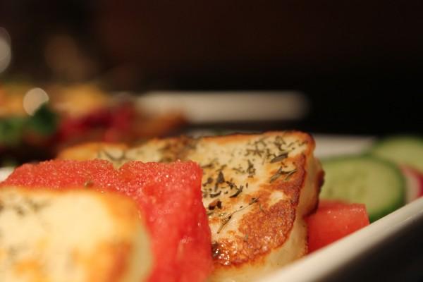 Halloum, Grillkäse mit Wassermelone & Thymian
