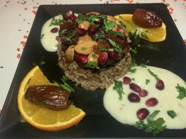 Makloubé, orientalisch-gewürzter Reis